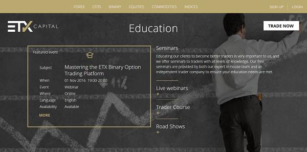 ETX Capital education