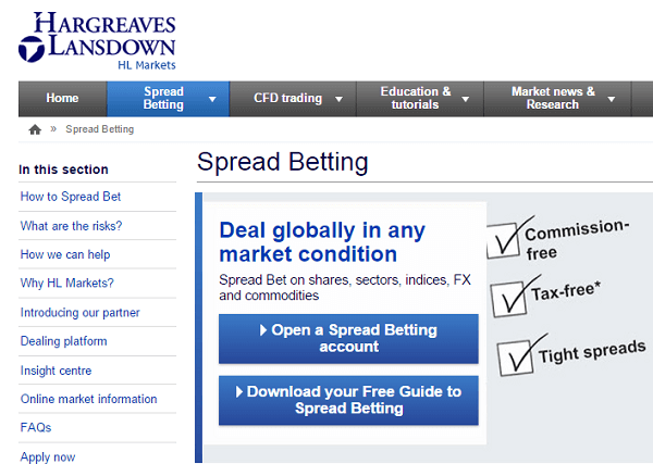hargreaves lansdown spread betting
