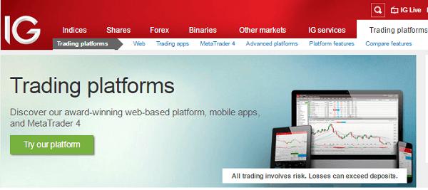 IG Indices Platform